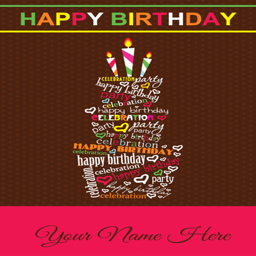 write your name on sweet birthday cards for friends, Birthday card