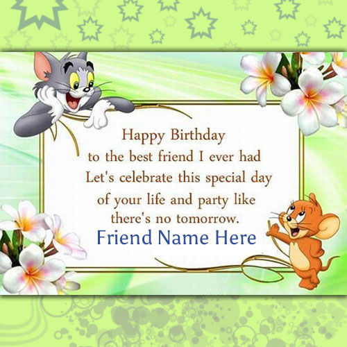 write your name on birthday cards for friends, Birthday card