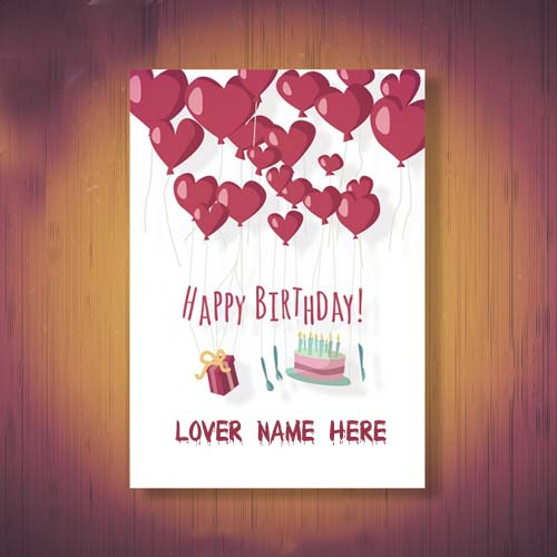 Birthday Cards Wishes With Name ~ Online create happy birthday wishes cards for lover
