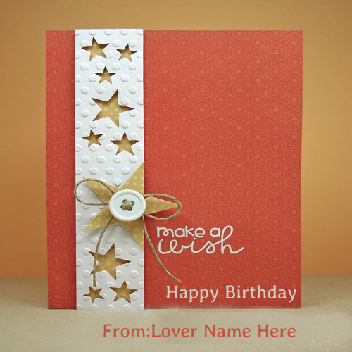Write Name On Happy Birthday Wishes Cards For Sister – Birthday Greeting Cards with Name