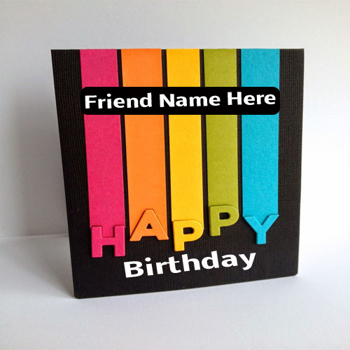 write name on fabulous sparkle birthday greeting card, Birthday card