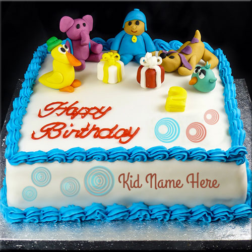 Create Cute Kid Birthday Cake With Custom Name
