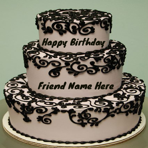 Write Name On Awesome Flower Birthday Cake