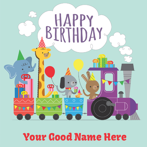 Write Name On Happy Birthday Wishes Cards For Kids – Birthday Cards for Kids