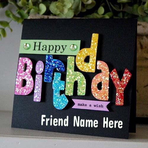 Write Name On Fabulous Sparkle Birthday Greeting Card – Birthday Greeting Cards with Name