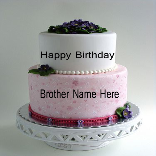 Write Name On Beautiful Birthday Cake For Brother.