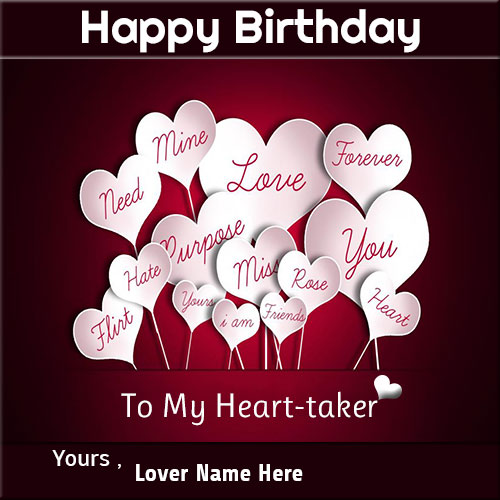Write Name On Happy Birthady Wishes Cards For Lover – Love Birthday Card