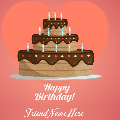 write your name on happy birthday card wishes for friends