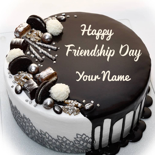 Write your Name On Happy Friendship Day Cakes