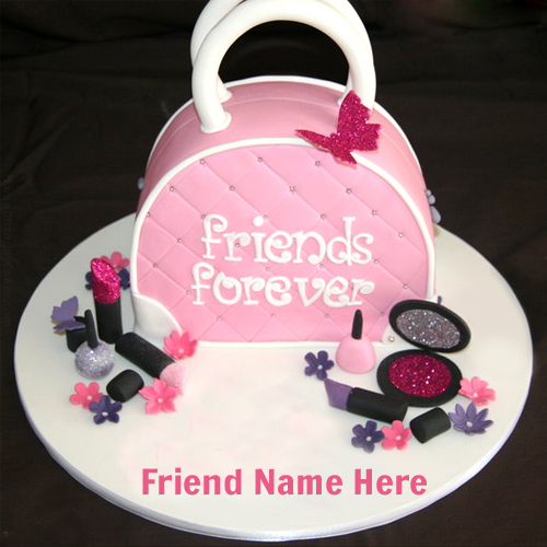 Write Your Name On Friendship Day Wishes Cake For Friend